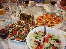 ZAKUSKI, oftewel een tapas buffet in Rusland.