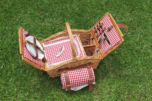 Een picknick mand is snel gevuld