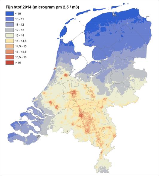 Luchtvervuilings-overzicht-in-Nederland