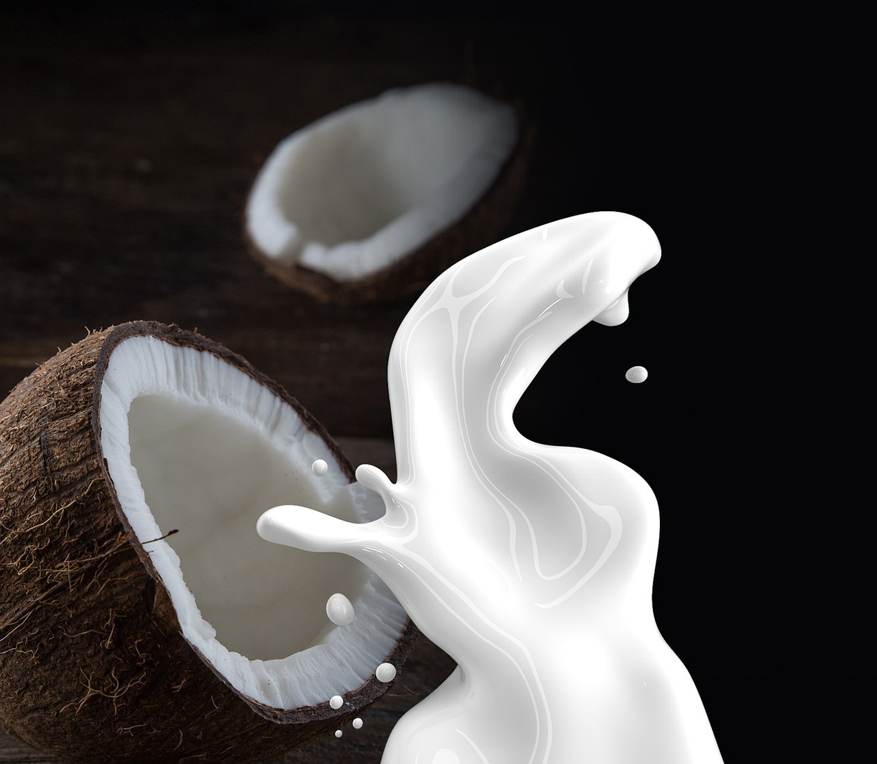6 smaken kokosmelk