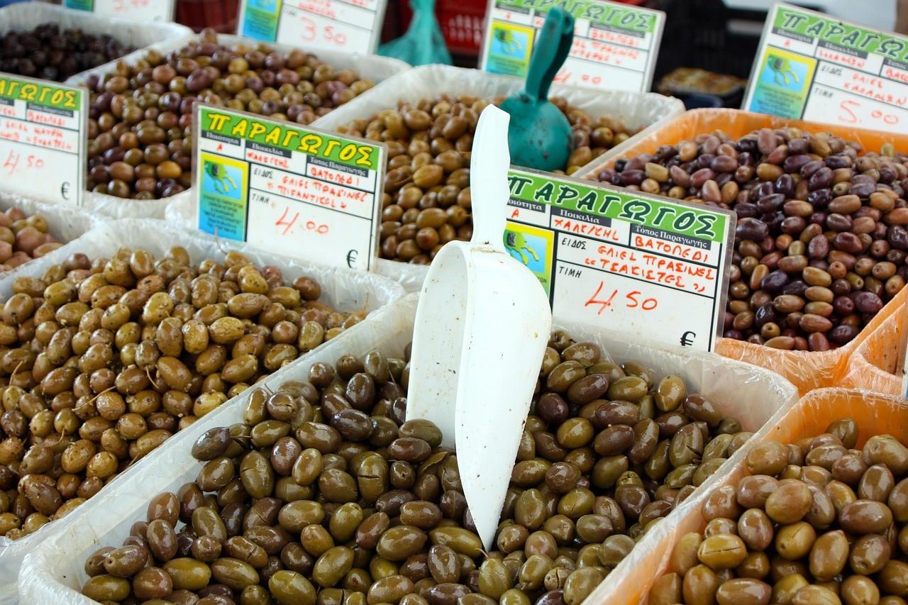 griekse stoofblog markt griekenland olijven